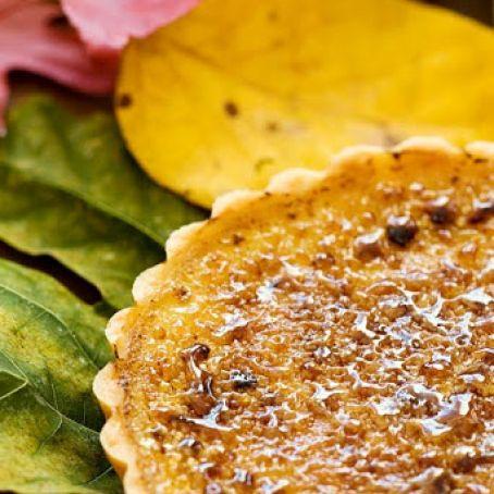 Pumpkin Maple Brulee Tart